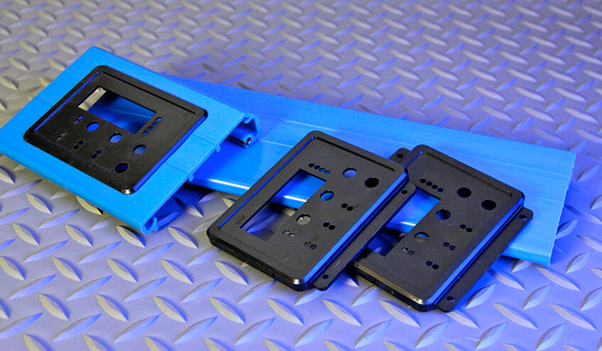Control Panel Extrusion and Molded Bezel