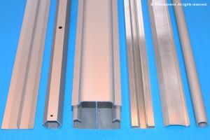 Aluminum Extrusion Profile Samples.